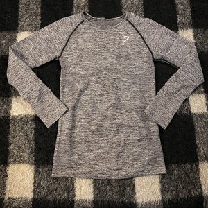 Gymshark grey marled compression top md
